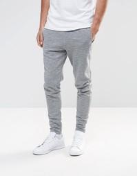 Зауженные спортивные брюки Selected Elias - Серый