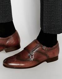 Кожаные монки Hudson LondonCastleton - Коричневый