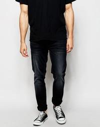 Темные суженные книзу джинсы слим Nudie Jeans Lean Dean 16 Dips