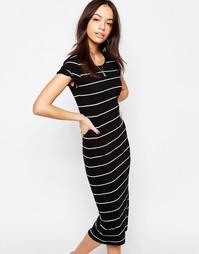 Трикотажное платье миди в полоску Only Abbie - Мульти