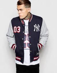 Студенческая куртка Majestic Yankees - Темно-синий