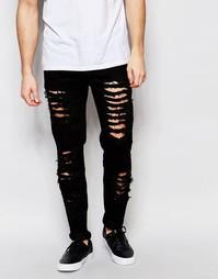 Рваные зауженные джинсы Other UK - Черный