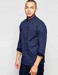 Поплиновая рубашка с принтом Dickens and Browne - Синий