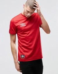 Футболка с маленьким логотипом Umbro - Красный