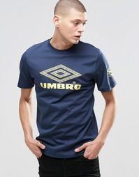 Футболка с логотипом Umbro Largo - Темно-синий