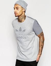 Футболка с логотипом adidas Originals Lux 3M AJ7061 - Серый