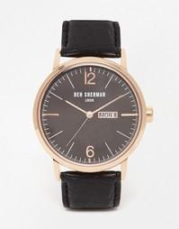 Часы с кожаным ремешком Ben Sherman Portobello - Черный