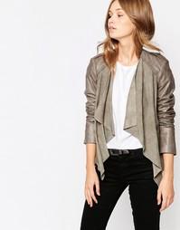 Байкерская куртка с драпировкой Muubaa Lupus - Гранитно-серый