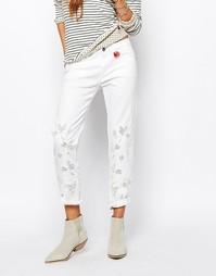 Прямые джинсы с сетчатыми вставками Maison Scotch Billie - Белый