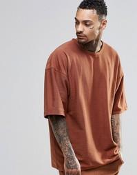 Oversize‑футболка Other UK - Красно-бурый