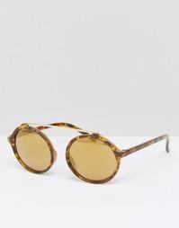Круглые солнцезащитные очки в черепаховой оправе с желтыми стеклами Je Jeepers Peepers