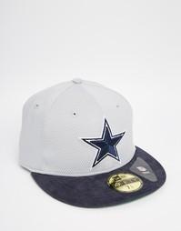 Кепка с вышивкой New Era 59 Fifty Dallas Cowboys - Синий