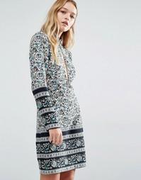 Цельнокройное платье с принтом пейсли и открытым передом и задом Rolla Rollas