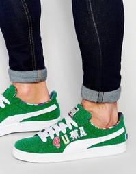 Зеленые кроссовки Puma x Dee and Ricky Basket 36008402 - Зеленый