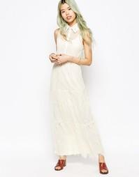 Кружевное платье макси Hazel - Кремовый