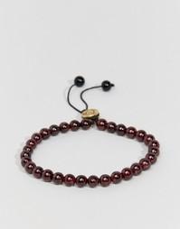 Браслет из полудрагоценных камней Lovebullets - Красный