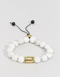 Браслет из полудрагоценных камней Lovebullets Snowflake - Белый