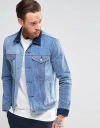 Джинсовая куртка слим с контрастными вставками Levi's May Celebration Levi's®