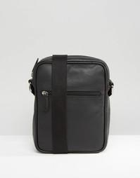 Кожаная сумка для путешествий ASOS - Черный