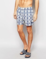 Короткие шорты для плавания Native Youth - Синий