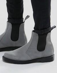 Замшевые ботинки челси Dr Martens - Серый