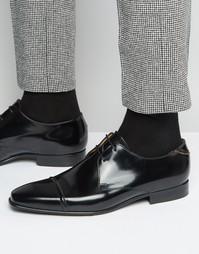 Туфли дерби с отделкой на носке Paul Smith Robin - Черный