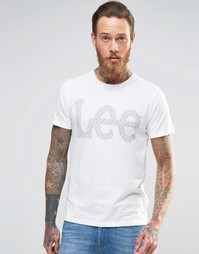 Белая футболка с принтом логотипа Lee - Cloud dancer