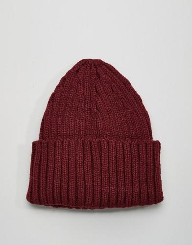 Бордовая шапка-бини в рубчик Gregory's - Красный