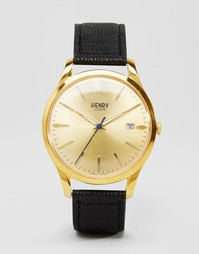 Часы с черным ремешком Henry London Westmister HL39-S-0006 - Черный