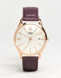 Часы с фиолетовым ремешком Henry London Hampstead HL39-S-0082
