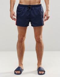 Темно-синие шорты для плавания Hugo Boss Piabuco - Темно-синий