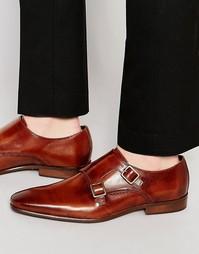 Кожаные туфли-монки Kurt Geiger Root - Коричневый