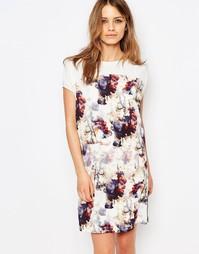 Платье-футболка с цветочным принтом Boss Orange - Естественный