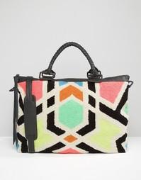 Дорожная сумка с мозаичной вышивкой Cleobella Avalon - Мозаика