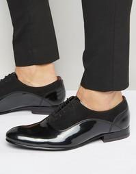 Оксфордские лакированные туфли Ted Baker Rugely - Черный