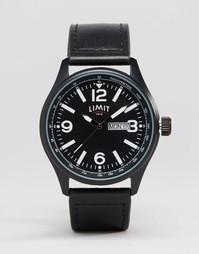Часы с черным кожаным ремешком Limit - Черный