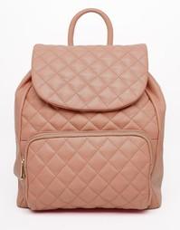 Стеганый кожаный рюкзак Urbancode - Румяный розовый