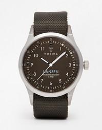 Часы на парусиновом ремешке Triwa Lansen LAST111 MO063212 - Зеленый