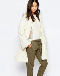 Пальто с капюшоном и кисточками Sessun Rafik - Кремовый