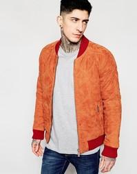 Замшевая куртка‑пилот в стеганый ромбик Scotch & Soda - Рыжий