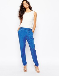 Мягкие брюки из купро BOSS Orange Sadina - Синий