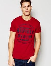 Футболка с логотипом Hilfiger Denim - Красный