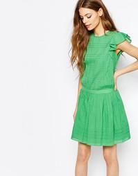 Зеленое платье с рюшами без рукавов Vanessa Bruno Athe - Зеленый