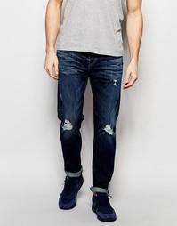 Рваные джинсы слим в стиле колор блок True Religion Dean - Выбеленный
