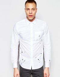 Рубашка с вышивкой в виде брызг Izzue - Белый