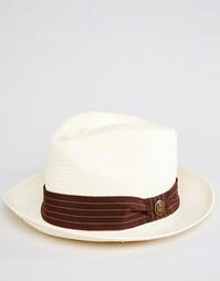 Соломенная шляпа-федора Goorin Snare - Белый
