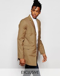 Светло-коричневое пальто Rogues Of London Exclusive - Кэмел