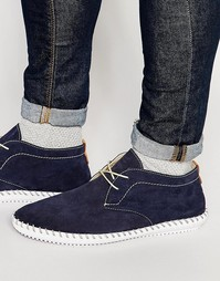 Замшевые туфли Hudson London Soralo - Темно-синий