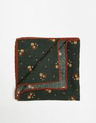 Шерстяной платок для нагрудного кармана Noose & Monkey - Зеленый