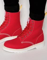 Ботинки с 8 люверсами Dr Martens Page - Красный